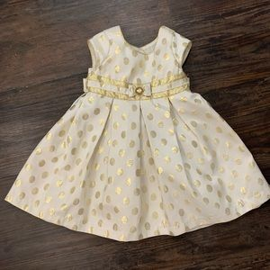 Cute Cream and Gold Toddler Dress